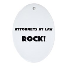 Attorneys At Law ROCK Oval Ornament