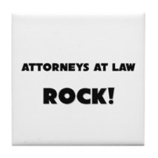Attorneys At Law ROCK Tile Coaster