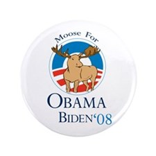"Moose for Obama Biden 3.5"" Button (100 pack)"