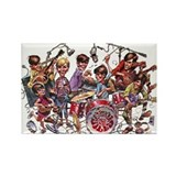 Cowsills 1960s Cartoon Rectangle Magnet