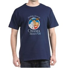 Alaskan Animals for Obama Bid T-Shirt