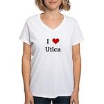 I Love Utica Women's V-Neck T-Shirt