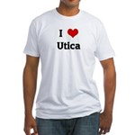 I Love Utica Fitted T-Shirt