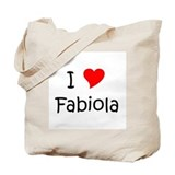 Cute I love fabiola Tote Bag