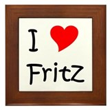 Cute I love fritz Framed Tile