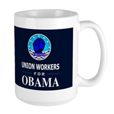 Union Workers Obama Dark Mug