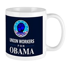 Union Workers Obama Dark Coffee Mug