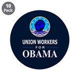 "Union Workers Obama 3.5"" Button (10 pack)"