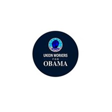Union Workers Obama Mini Button (100 pack)