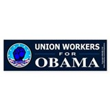 Union Workers Obama Bumper Car Sticker