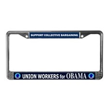 Union Workers Obama License Plate Frame