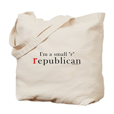 Small r republican Tote Bag