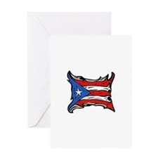 Puerto Rico Heat Flag Greeting Card