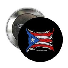 "Puerto Rico Heat Flag 2.25"" Button (100 pack)"