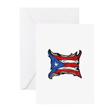 Puerto Rico Heat Flag Greeting Cards (Pk of 20)