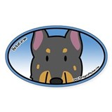 Anime Beauceron Oval Sticker (Cartoon)