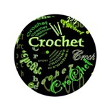"Crochet Green 3.5"" Button (100 pack)"
