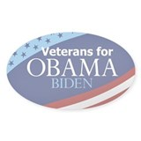 Veterans for Obama Oval Decal