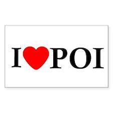 I Love Poi Rectangle Sticker 10 pk)