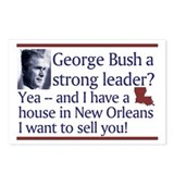 George Bush a strong leader? Postcards (Package of