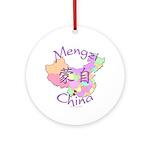 Mengzi China Map Ornament (Round)