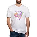 Mengzi China Map Fitted T-Shirt