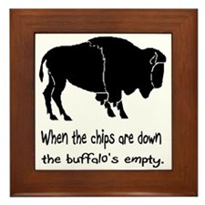 Buffalo Chips Framed Tile