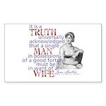 Truth Rectangle Sticker