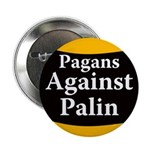 Pagans Against Palin campaign button