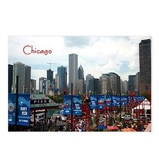 Cute Navy pier Postcards (Package of 8)