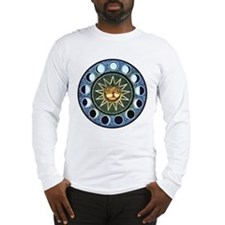 Moon Phases Mandala Long Sleeve T-Shirt