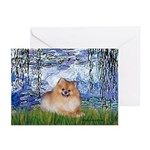 Lilies #6/Pomeranian #4 Greeting Cards (Pk of 20)