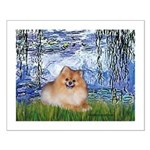 Lilies #6/Pomeranian #4 Small Poster