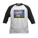 Lilies #6/Pomeranian #4 Kids Baseball Jersey