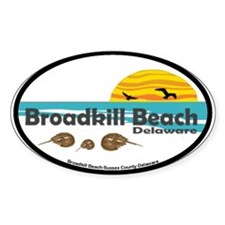 Broadkill Beach Oval Decal
