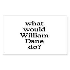 William Dane Rectangle Decal