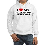 I Love My Old English Sheepdo Hoodie