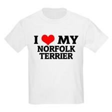 I Love My Norfolk Terrier Kids T-Shirt