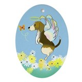 Beagle Angel Keepsake (Oval)