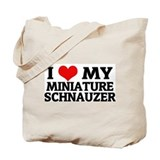 I Love My Miniature Schnauzer Tote Bag