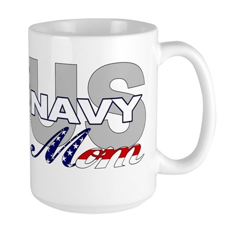 US Navy Mom Large Mug