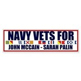 Navy Vets for McCain Palin Bumper Bumper Sticker