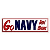 Go Navy Bumper Bumper Sticker