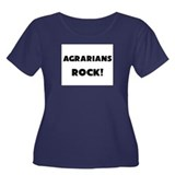 Agrarians ROCK Women's Plus Size Scoop Neck Dark T