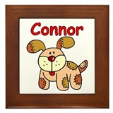 -Connor Puppy Framed Tile