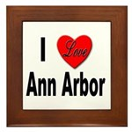 I Love Ann Arbor Framed Tile