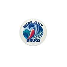 Wipe Out Drugs Mini Button