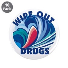 "Wipe Out Drugs 3.5"" Button (10 pack)"