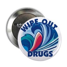 "Wipe Out Drugs 2.25"" Button (100 pack)"