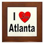 I Love Atlanta Framed Tile